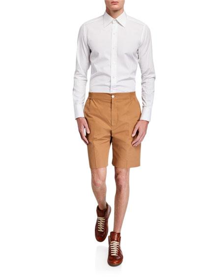 Gucci Men's Heavy Cotton Poplin Plaid Shorts