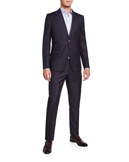 Gucci Men's GG Stripe Nested Two-Piece Suit