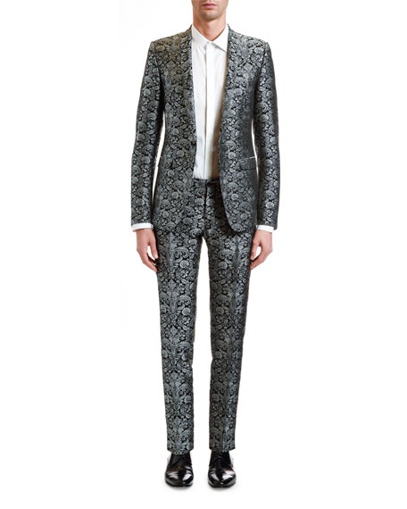 Dolce & Gabbana Men's Two-Piece Brocade Evening Suit