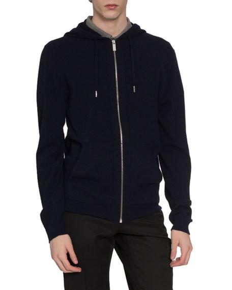 Berluti Men's Zip-Front Cashmere/Silk Hoodie