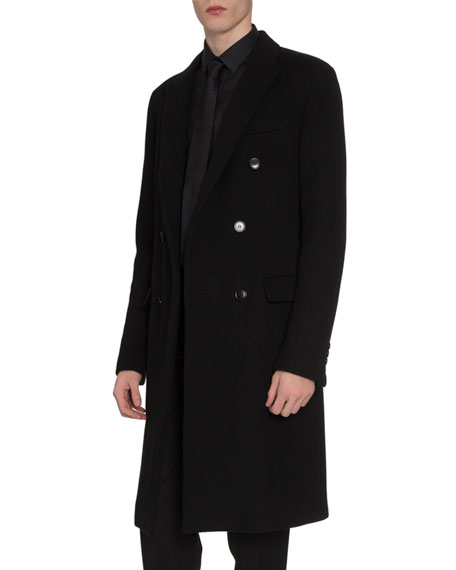 Berluti Men's Double-Breasted Cashmere Coat