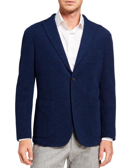 Boglioli Jackets Men's Solid Jersey Two-Button Jacket
