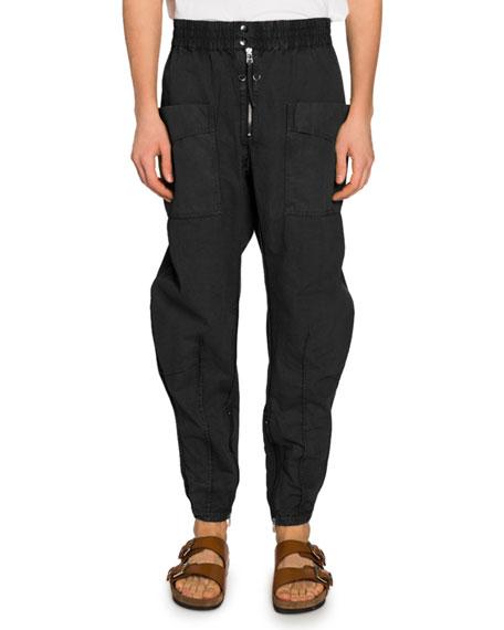 Isabel Marant Men's Faded Twill Cargo Pants