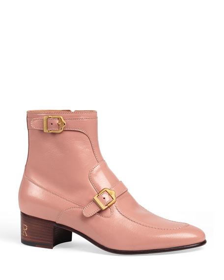 Gucci Men's Ebal Sucker Double-Strap Ankle Boots