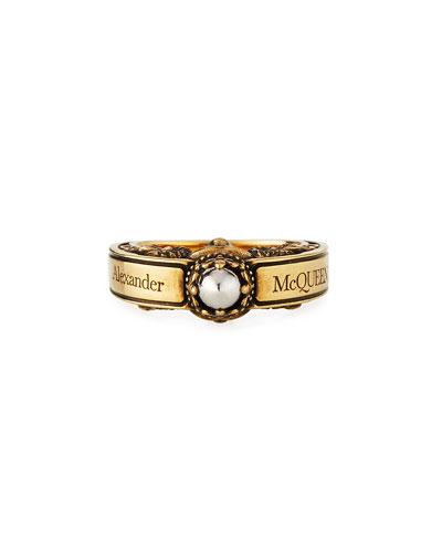 Men's Engraved Skull Ring  Size 9-10