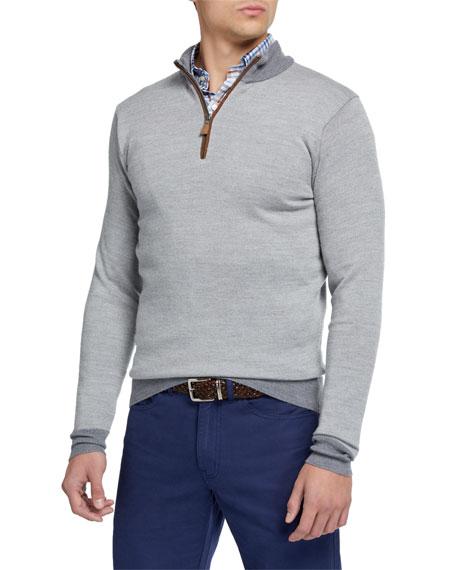 Peter Millar Men's Birdseye 1/4-Zip Sweater