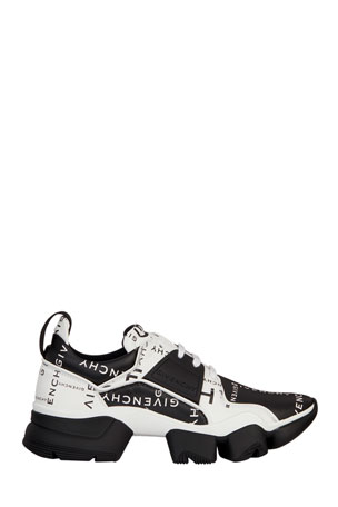 Givenchy Men's Jaw Logo-Print Two-Tone Leather Sneakers