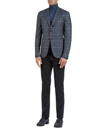 Image 2 of 5: Isaia Men's Wool-Blend Check Sport Jacket