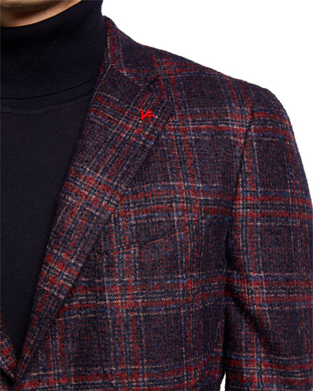 Image 3 of 3: Isaia Men's Plaid Alpaca-Blend Sport Jacket