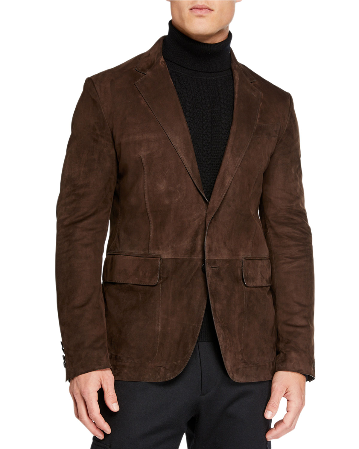 Ermenegildo Zegna Men's Suede Two-Button Jacket