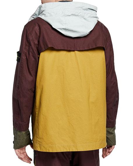Stone Island Men's Multicolor Patch Zip-Front Jacket