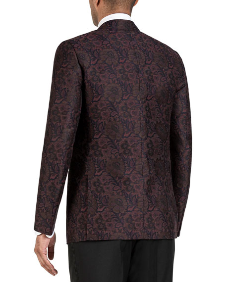 Isaia Men's Oversize-Paisley Dinner Jacket