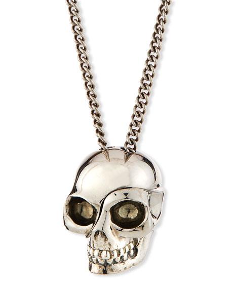 Alexander McQueen Men's Divided Skull Pendant Necklace