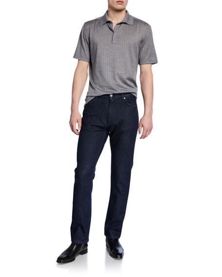 Ermenegildo Zegna Men's Dark-Wash Straight-Leg Jeans