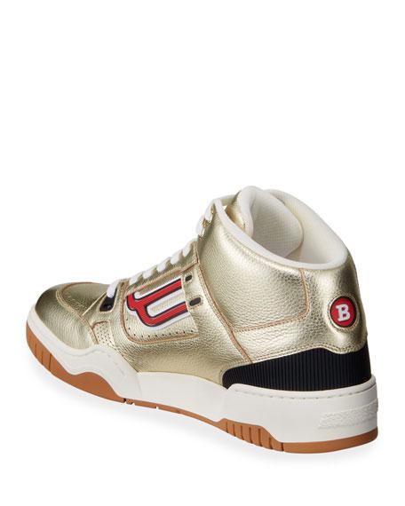Bally Men's King Metallic Leather High-Top Sneakers