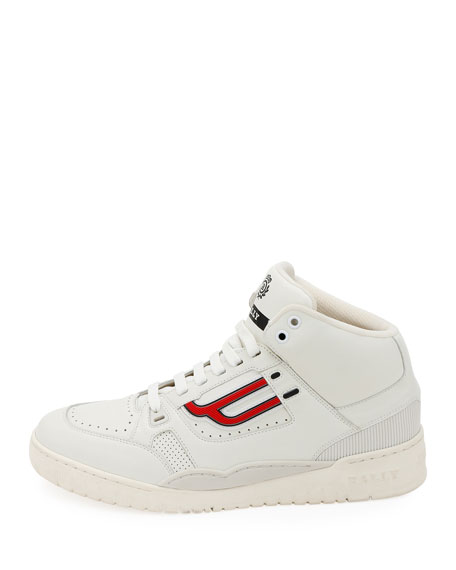 Image 2 of 3: Men's King Leather High-Top Sneakers