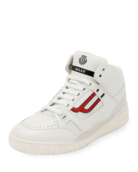 Image 1 of 3: Men's King Leather High-Top Sneakers