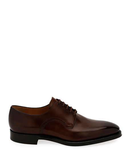 Bally Men's Scamardo Leather Derby Dress Shoes