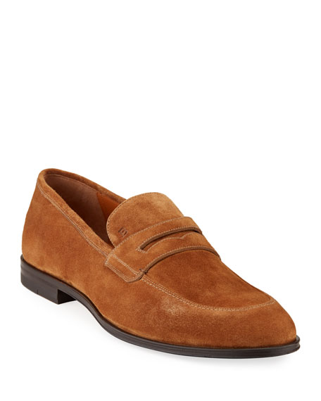 Bally Men's Webb Suede Penny Loafers