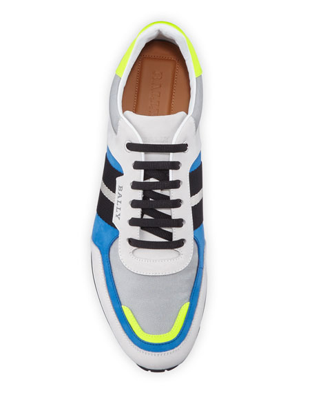Bally Men's Aseo Multicolor Trainspotting-Stripe Sneakers