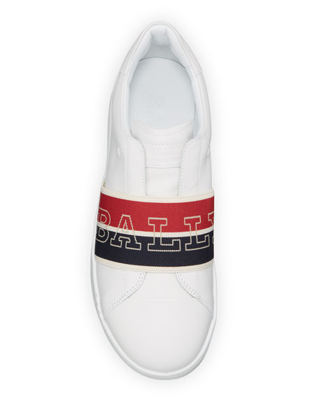Bally Men's Wictor Logo Band Sneakers