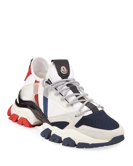 Moncler Men's Trevor Chunky Nylon Trainer Sneakers