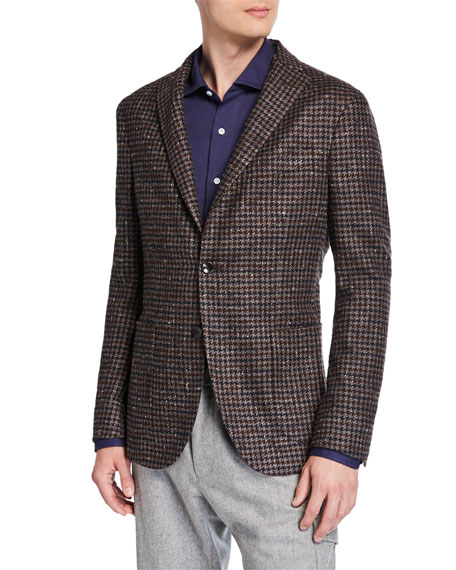 Boglioli Men's Two-Tone Houndstooth Two-Button Jacket
