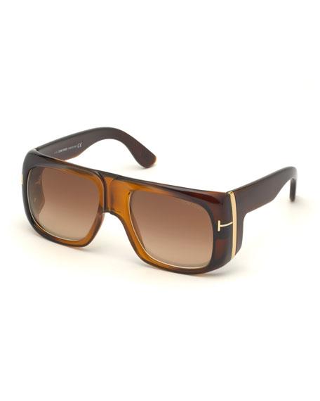 TOM FORD Men's Gino Vintage-Inspired Aviator Sunglasses