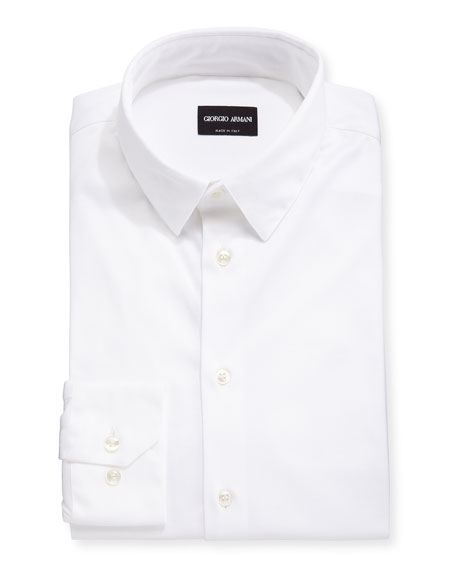 Giorgio Armani Men's Stretch Jersey Sport Shirt, Off White