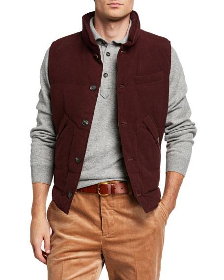 Brunello Cucinelli Men's Button-Front Vest