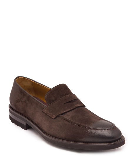 Bruno Magli Men's Bryan Suede Penny Loafers