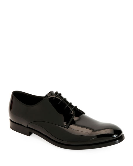Giorgio Armani Men's Patent Leather Derby Shoes