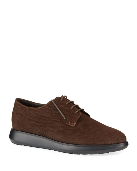 Giorgio Armani Men's Chevron Low-Top Chukka Boots