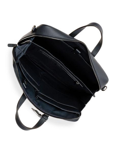 Giorgio Armani Men's Leather Briefcase Bag with ID Tag