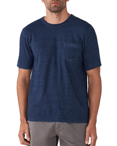 Faherty Men's Striped Pocket T-Shirt