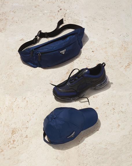 Prada Men's Cloudbust Mesh & Leather Sneakers