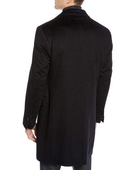 Corneliani Men's ID Wool Top Coat, Black