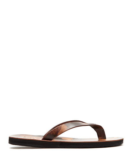 Frye Men's Theo Camouflage Leather Thong Sandals