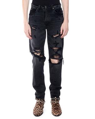 44dd590d8d5 Amiri Men's Destroyed Slouch Denim Jeans