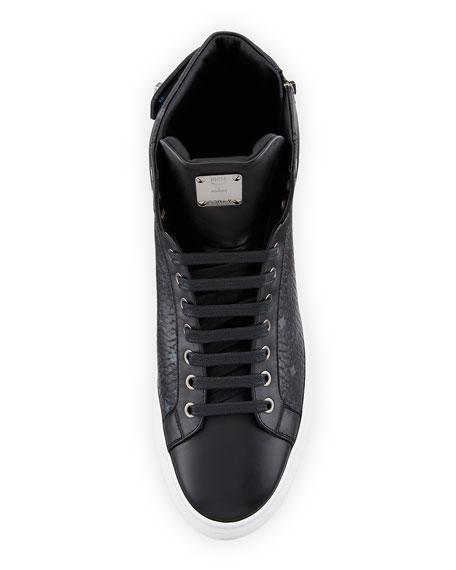 MCM Men's Visetos High-Top Sneakers