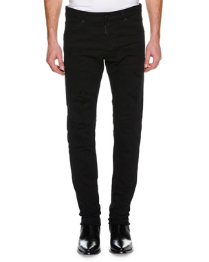 f5326767a10 Dsquared2 Men's Cool Guy Distressed Slim-Fit Jeans