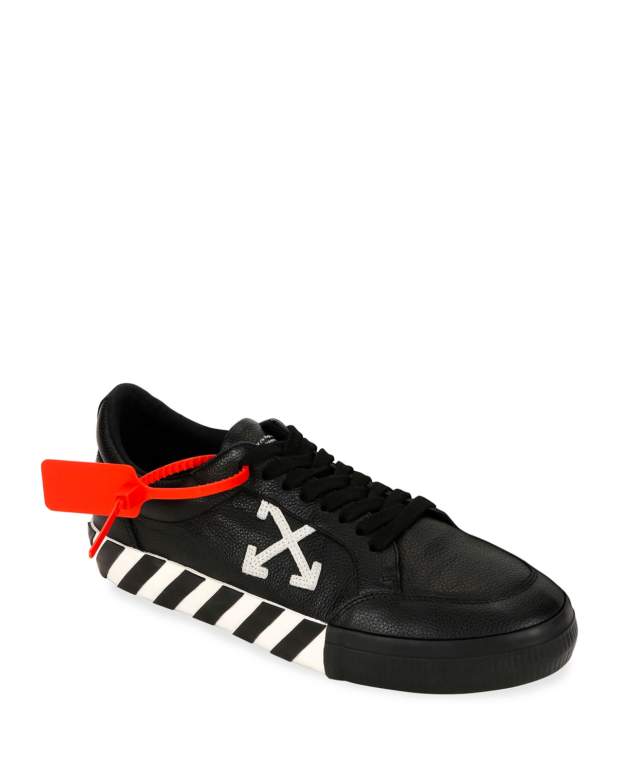 Arrow Leather Sneakers with Stripes