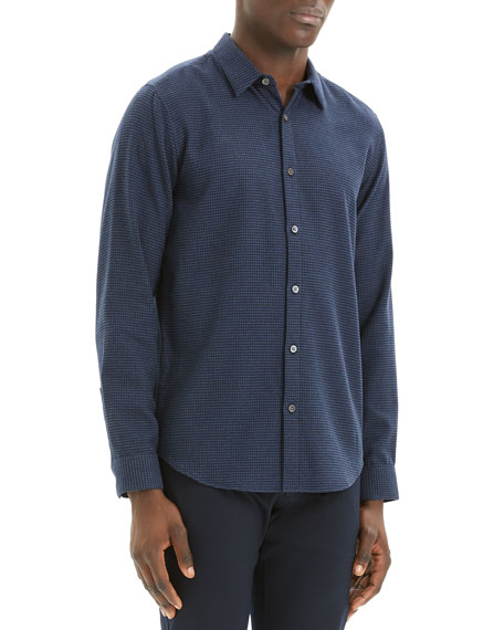 Image 2 of 3: Theory Men's Irving Beacon Textured Sport Shirt