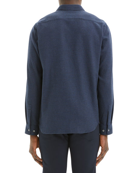 Image 3 of 3: Theory Men's Irving Beacon Textured Sport Shirt