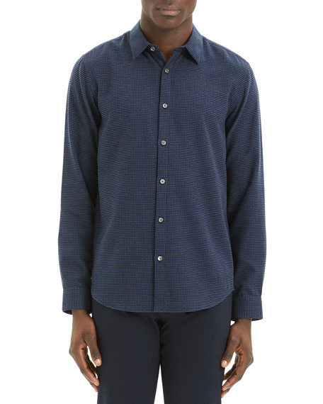 Image 1 of 3: Theory Men's Irving Beacon Textured Sport Shirt