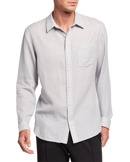 Image 1 of 3: Men's Dobby Double-Face Sport Shirt