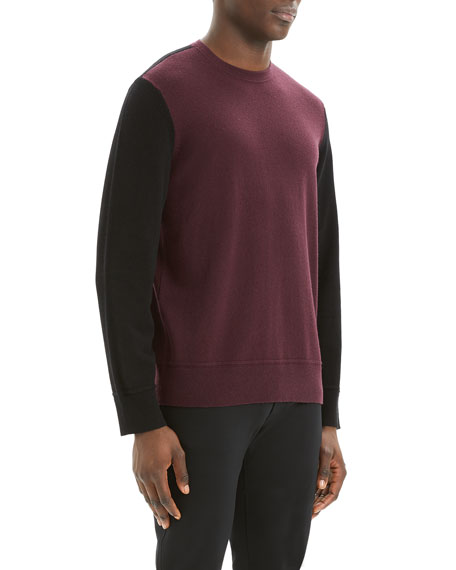 Image 2 of 3: Theory Men's Hills Colorblock Cashmere Sweater