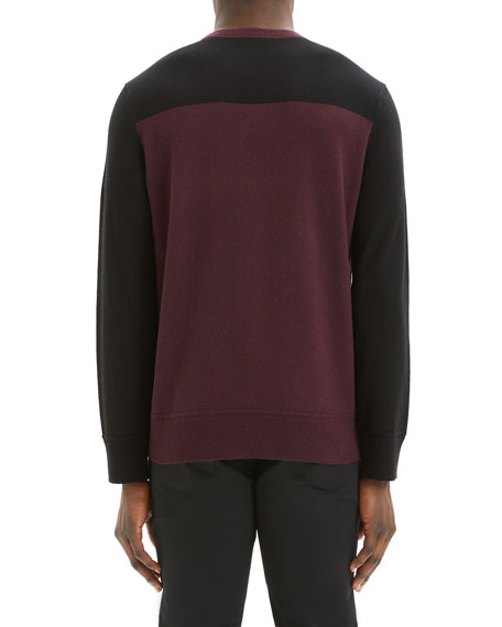 Image 3 of 3: Theory Men's Hills Colorblock Cashmere Sweater