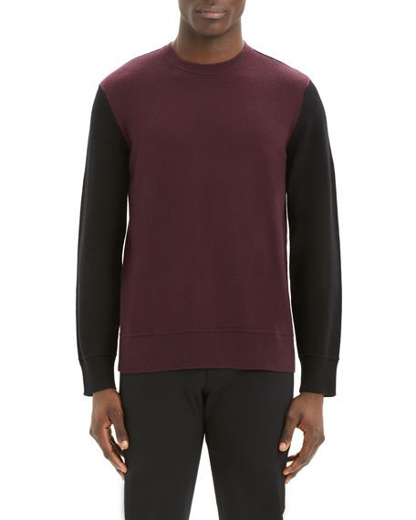 Image 1 of 3: Theory Men's Hills Colorblock Cashmere Sweater