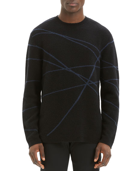 Image 1 of 4: Theory Men's Aris Wizard Crewneck Sweater